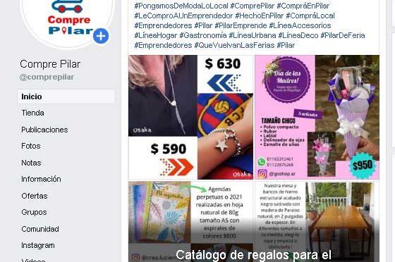 Pilar Emprende lanzó un catálogo con más de 80 regalos de emprendedores pilarenses para el Día de la Madre